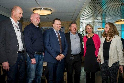 Forhandlinger: Ordførerne i Follo, minus Vestby, her fra et møte om ny kommunestruktur fra tidligere i vinter. Ås formannskaps beslutning om stor-Follo-samtaler påvirker våre kommuner.Arkiv