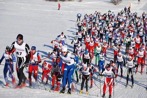POPULÆRT: Berserennet var i mange år et svært populært turrenn. Bildet er fra starten på Gjettjønna i Røros i 2008.