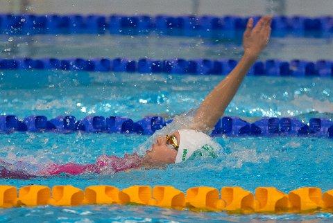 BEST: Karen Hellberg Munthe var beste svømmer i sin årgang da hun ble nummer åtte både på 200 rygg og 200 medley.