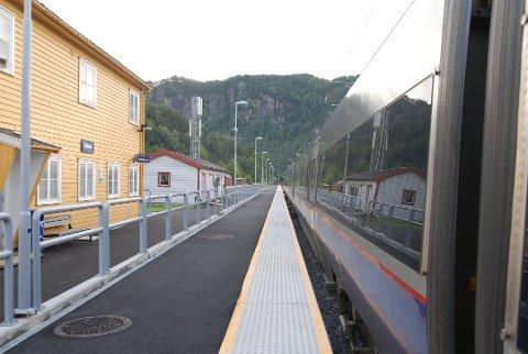 FORESLÅR Å DROPPE STOPP: Go-Ahead har foreslått å droppe stopp på Gyland stasjon på morgenavgangen til Stavanger.