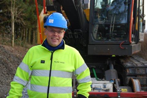 GRUNDIG BEGRUNNET: Banesjef Tallak Langmyr for Bane Nor Sørlandet mener de har gått nøye gjennom saken til Ida Sofie Hamre Halvorsen. – Vi kan ikke se at vanntilsiget skyldes feil ved vårt anlegg, sier han.