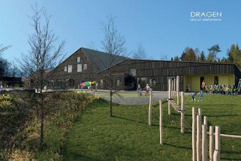 Slik skal den nye barnehagen på Lindås med plass til 126 barn sjå ut.