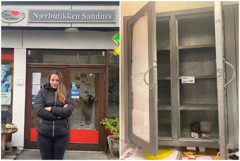 Dagleg leiar for butikken, Pia Yvonne Jakobsen, fekk i morgontimane ein desemberdag beskjed om at tjuvar hadde raida butikken hennar.