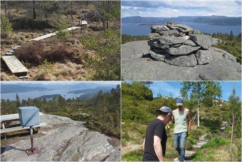 LINDÅS: Turvegen opp til Kolåsfjellet byrjar å ta ordentleg form.