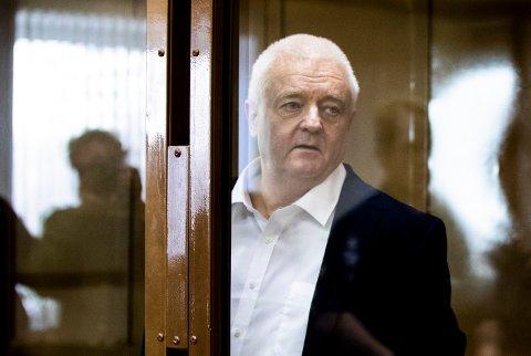 MOSKVA, RUSSLAND 20190416. Frode Berg og hans forsvarer Ilja Novikov ved byretten i Moskva idet r dommen leses opp tirsdag Foto: Berit Roald / NTB scanpix
