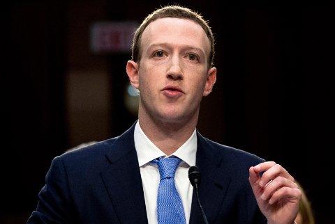 Facebook-toppsjef Mark Zuckerberg.