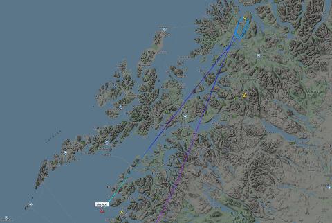 ENDTE OPP I BODØ: Wizz Airs rute W64656 fra Trondheim til Tromsø og skulle etter planen ha landet på Tromsø lufthavn. Det skjedde ikke. Passasjerene endte opp i Bodø.