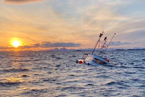 Båten gikk ned utenfor Nordskot.