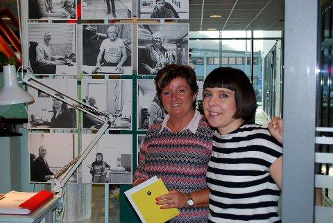 Designer Ingrid Rundberg og Hilde Fuhr, med-arrangør av utstillingen.