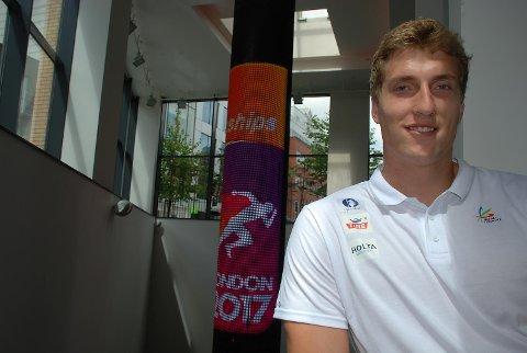 Sven Martin Skagestad har god tro på VM-finale når han gjør klar for diskoskvalifisering på olympiastadion fredag kveld. (Foto: Jon Wiik)