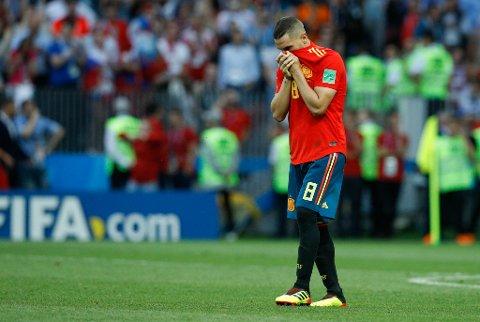 Koke misset på en av straffene da Spania røk ut av VM.