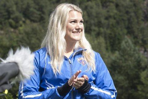 Matilde Roe tok endelig gull. Her som sølvvinner under NM i 2016.