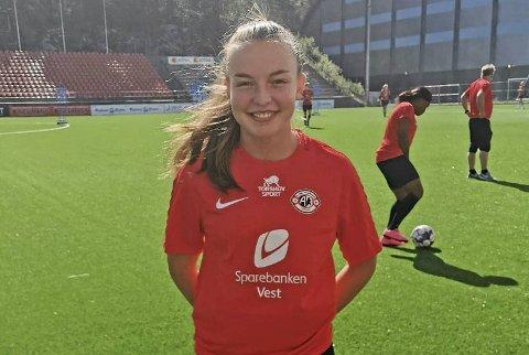 Ingrid Lovise Jåstad på plass i Bergen.