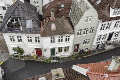 Huset i midten ble solgt torsdag, etter en heftig budrunde.