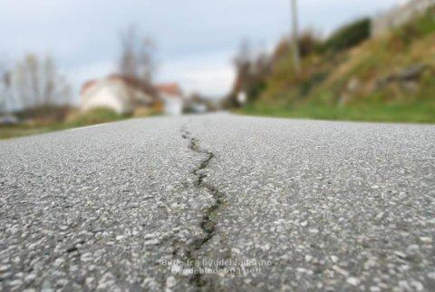Vei: Statens vegvesen utfører arbeid på fylkesvei 474
