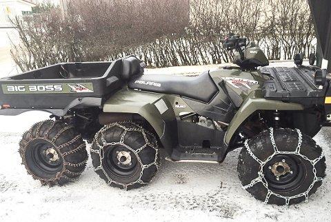 STJÅLET: Det var denne sekshjulingen som ble stjålet fra en garasje i Jarenveien natt til søndag.