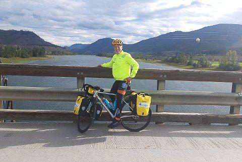 ØNSKET EN UTFORDRING: Terje Kolbjørnsen fra Hokksund ønsket en utfordring og bestemte seg for å sykle Canada på tvers.