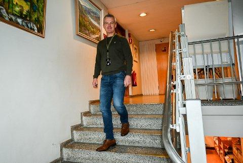 NEDTRAPPING: Kommunedirektør Jostein Harm innstilte på å støtte næringshagen med 100.000 kroner og ikke 600.000 kroner.
