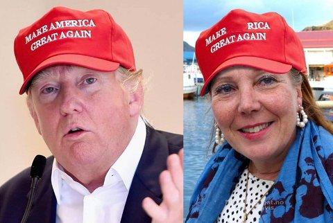 Kari Lene Olsen (AP) blir her sammenlignet med Amerikas president, Donald Trump.