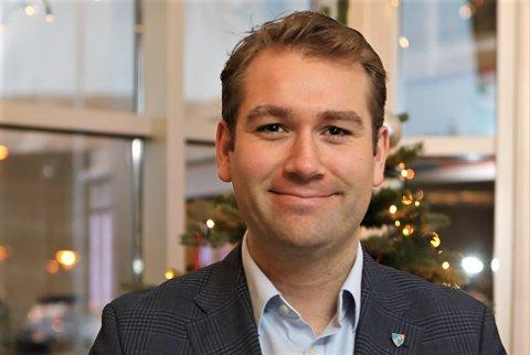 TETTARE PÅ BYGGJEPROSJEKTA: Jacob Nødseth (V) skal sitje i det nye prosjektutvalet i Kinn kommune som har sitt første møte neste veke.