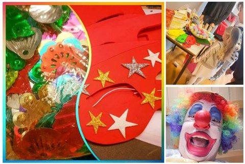 Lørdag 2. mars, i to av byens varehus, kan barn få laget sin egen karnevalsmaske.