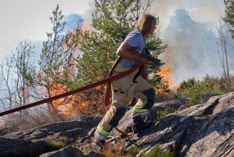 VÆR FORSIKTIG: Brannvesenet ber publikum om hjelp for å unngå situasjoner som dette.