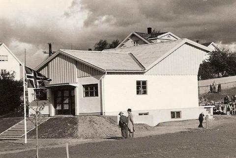 Paviljongen på Gressvik siste halvdel av 50 tallet.