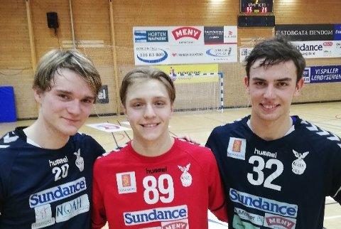 IMPONERTE: Johannes Gurrik, Henrik Kjølsrud og Eskil Overvik viste gode takter på banen.