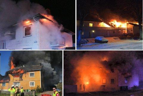 HYPPIG: Fire ganger har det vært brann i kommunale boliger mellom 31. oktober 2017 og 30. oktober 2018. Nå koster forsikringen det seksdobbelte, og egenandelen har steget fra 25.000 kroner til 1.000.000,-