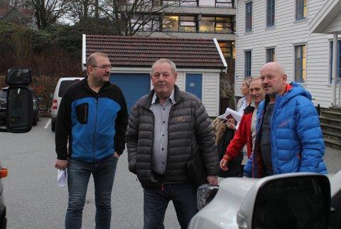 Utvalg for trafikksikerhet i Gjesdal var på befaring på flere kommunale veier tirsdag. Fra venstre: Arild Volden, Magne Bergseth, Gunvor Tungesvik, Asgeir Kleppa og Kåre Birkeland.