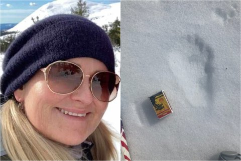 Charlotte Finstad Andersen har hytte i Torsdalen, på østsida av Skeikampen i Gausdal. Fredag så hun et stort dyr som løp ned mot Sjøsetervatnet.