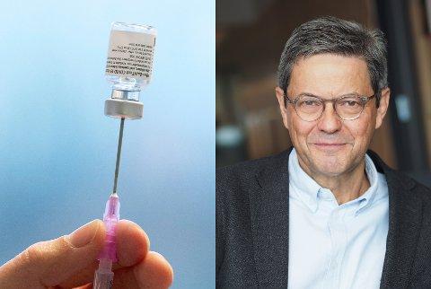 LITE SANNSYNLIG: Overlege Sigurd Hortemo ved Statens legemiddelverk sier det er lite sannsynlig at vaksinedosen førte til hendelsen der en totning i 70-årene døde kort tid etter en tredje dose med koronavaksine.