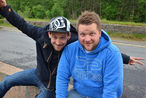 TEAM: Frode Myrdal (til høyre) og Torstein Jøleid utgjør hip-hip-duoen Metaforfabrikken.