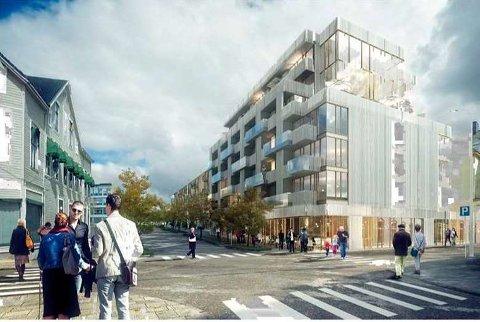 SLIK: Her er bygget som Omsorg AS ønsker å oppføre i Parkgata 31.