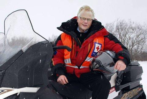 Klar til innsats: Edvard Akselsen er en av dem som skal sørge for en trygg påske på Nordkyn i år.
