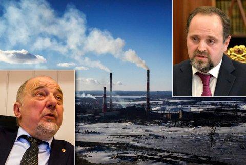 FYRTE LØS: Rune Rafaelsens meninger om forurensningen fra Nikel senket stemningen på tirsdagens toppmøte, ifølge ham selv. Den russiske miljøministeren Sergej Donskoj (til høyre) var blant tilhørerne.