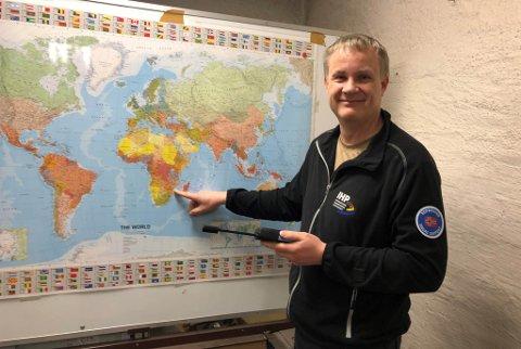REISER: Sammen med tre svenske kolleger dro Frode Tangen fra Norge for å hjelpe til.