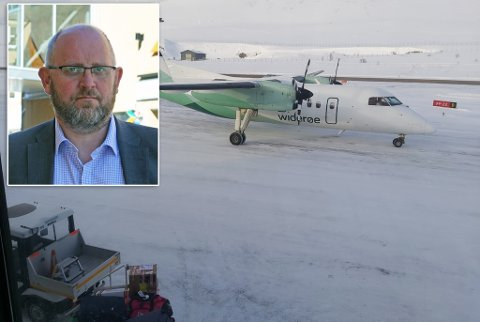 TILSTREKKELIG: Avinor mener at dagens flyplass i Hammerfest har tilstrekkelig kapasitet i overskuelig framtid.  Det kan ikke stå uimotsagt, mener direktør i Hammerfest næringsforening, Espen Hansen.