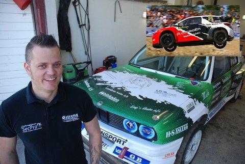 Hans-Jøran Østreng fra Høland bytter ut sin trofaste BMW med en innleid Citroen (innfelt) for å delta i en EM-runde i rallycross. Arkivfoto: Trym Helbostad