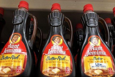 Merket Aunt Jemima er det første til å endre merkevaren og logoen som følge av Black Lives Matter-protestene. Foto: Justin Sullivan/Getty Images/AFP