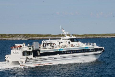 MS Helgeland fikk et hull i skroget ved anløp av Sleneset 2. desember.