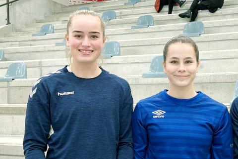 REISER OVER FJELLET: Annika Skrettingland (t.v.) blir, som Ine Marie Terland, Ålgård-spiller.