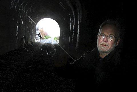 Lys i enden: Fred Nordseth er med på feiringen av tverrpolitisk enighet om tunnelbevaring. Arkivfoto