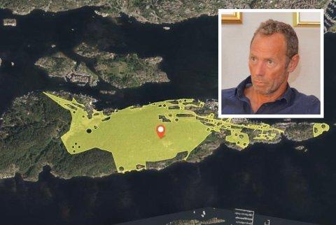 STOR EIENDOM: Ivar Tollefsen kjøpte gårdsnummer 12 bruksnummer 1 for 18,1 millioner i 2014. Eiendommen dekker store deler av Tåtøy.
