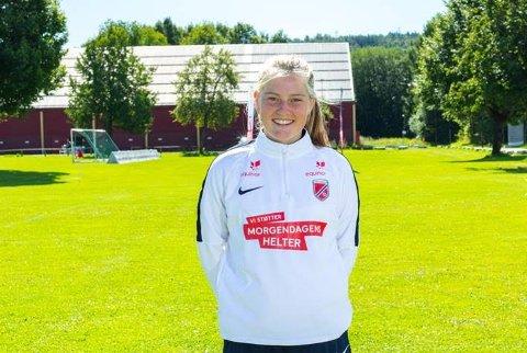 TALENTLEIR: Kragerøs landslagspiller på J 16, Ella Isaksen Opkvitne deltar denne uka på Equinors talentleir i Porsgrunn.