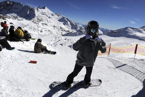 KLAR: Silje Norendal gjør seg klar til en ny treningsomgang i slopestyleløypa.