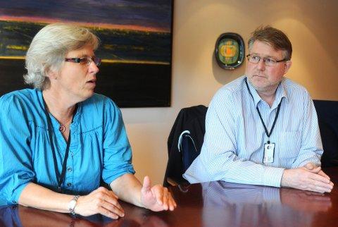 De tillitsvalgte Anne Jenny Archer og Lars Christian Nilsen i TechnipFMC. Bildet er tatt i 2009.