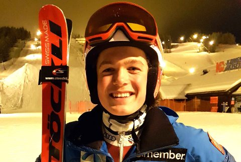 VANT: Johs Herland vant super-G rennet i det store internasjonale ungdomsrennet i Whistler.