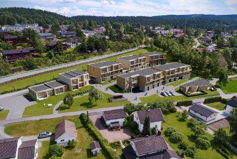 Nytt nabolag: Nå er Solbråtan, Usbls boligprosjekt i Båhusveien lagt ut for salg og interessen er stor, ifølge eiedomsmegleren.