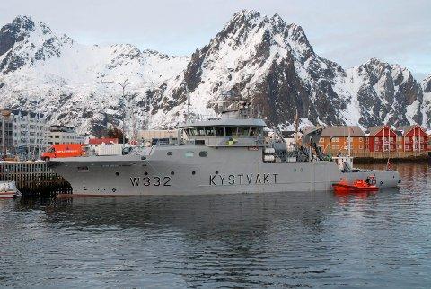 Brua på Kystvakta benyttes som kommandosentral under VM-skreifiske hvor sikkerheten blir koordinert.